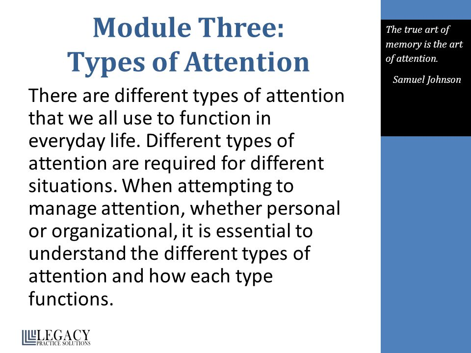 Module Three: Types of Attention