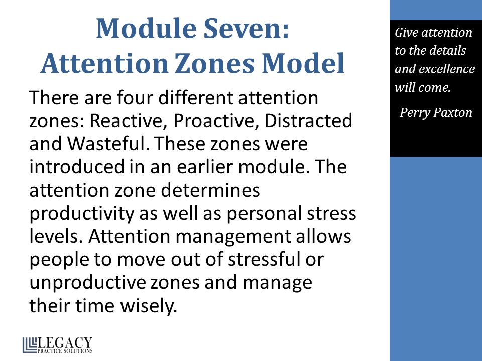 Module Seven: Attention Zones Model