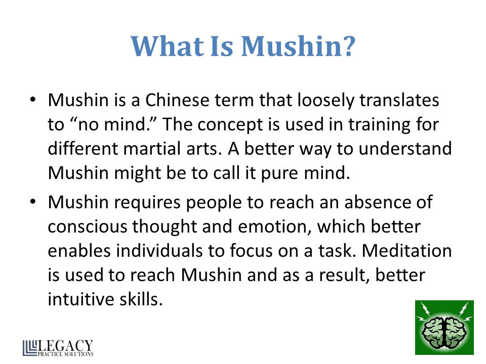 What Is Mushin