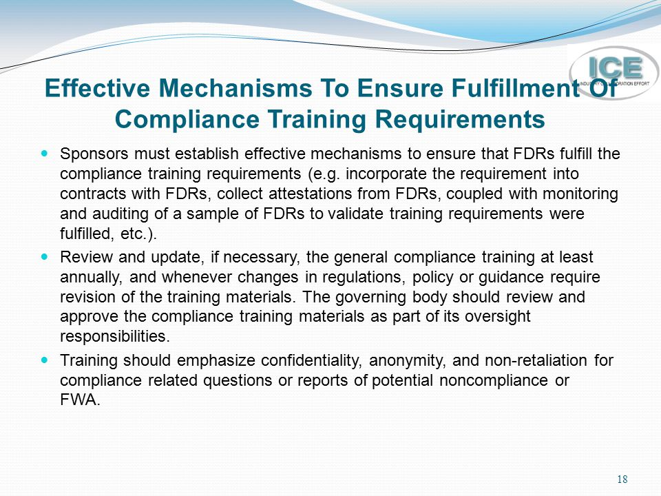 Effective Mechanisms To Ensure Fulfillment Of Compliance Training Requirements