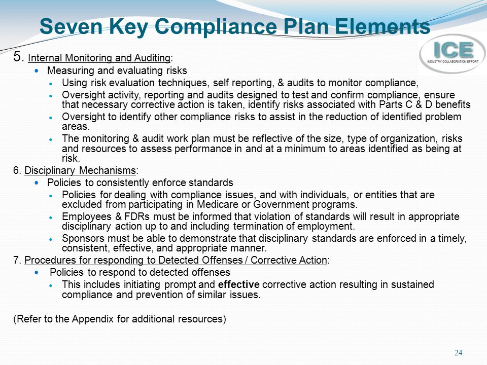 Seven Key Compliance Plan Elements