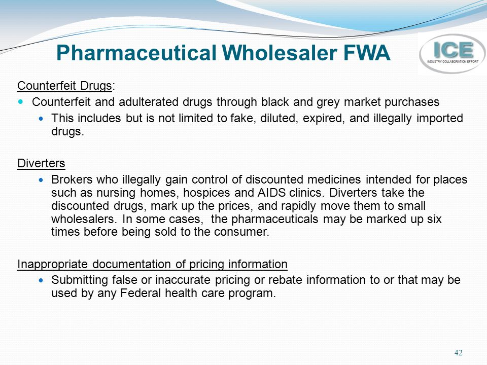 Pharmaceutical Wholesaler FWA