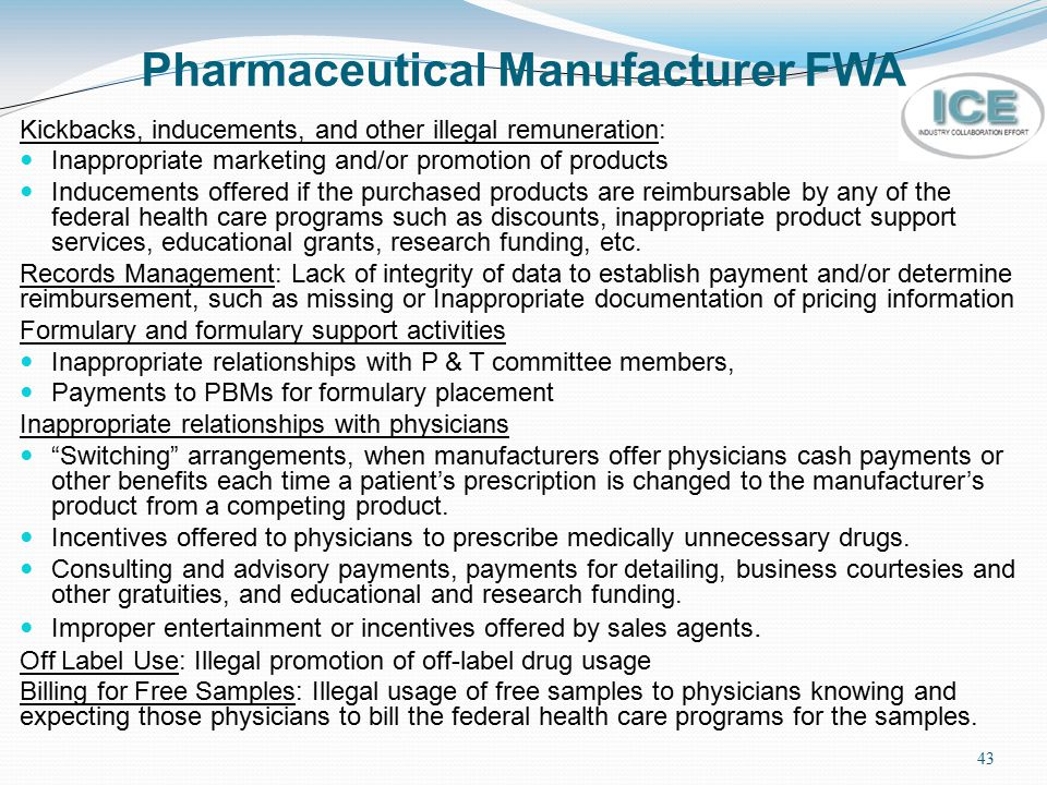 Pharmaceutical Manufacturer FWA