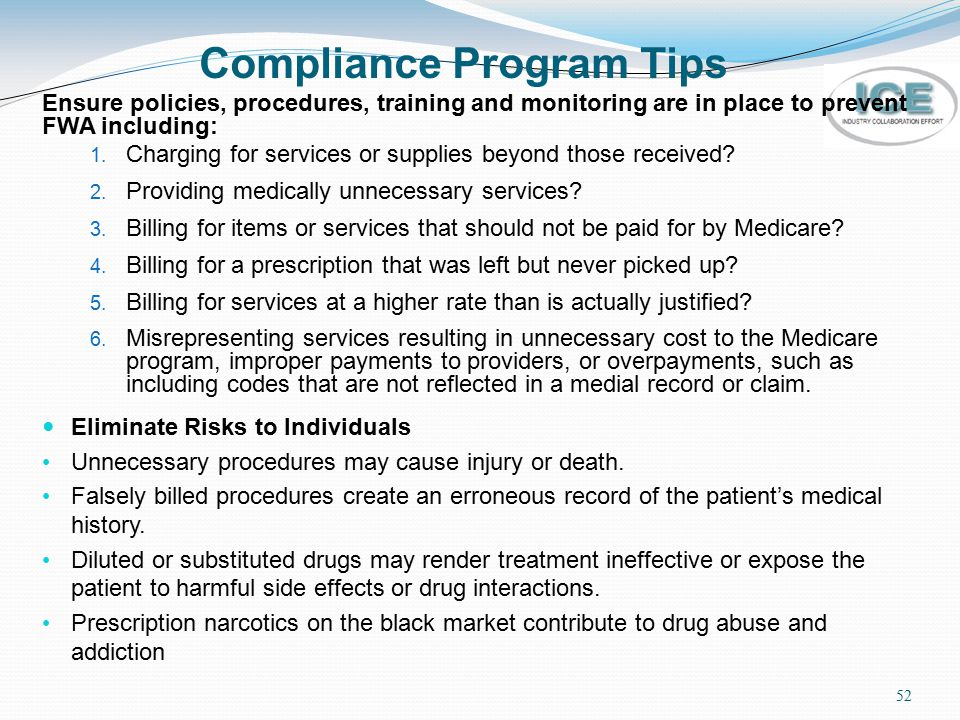 Compliance Program Tips