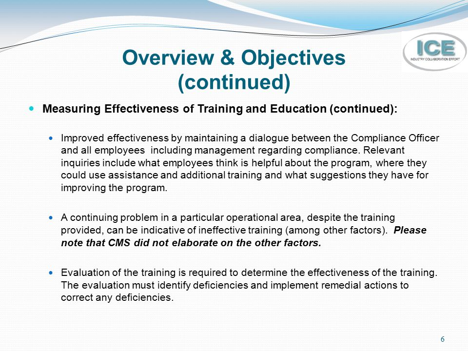 Overview & Objectives (continued)