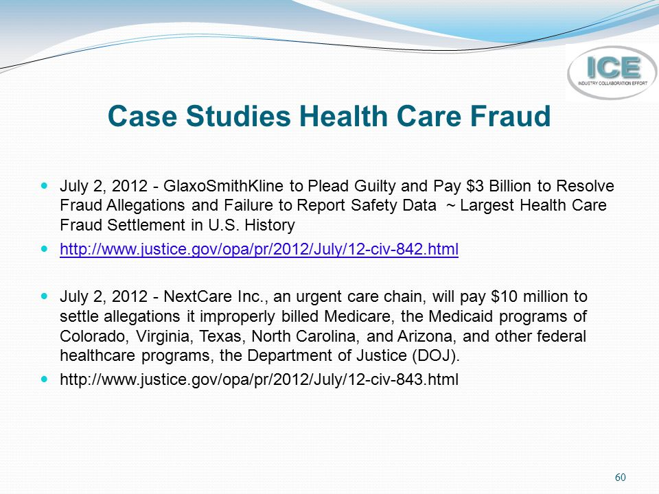 Case Studies Health Care Fraud