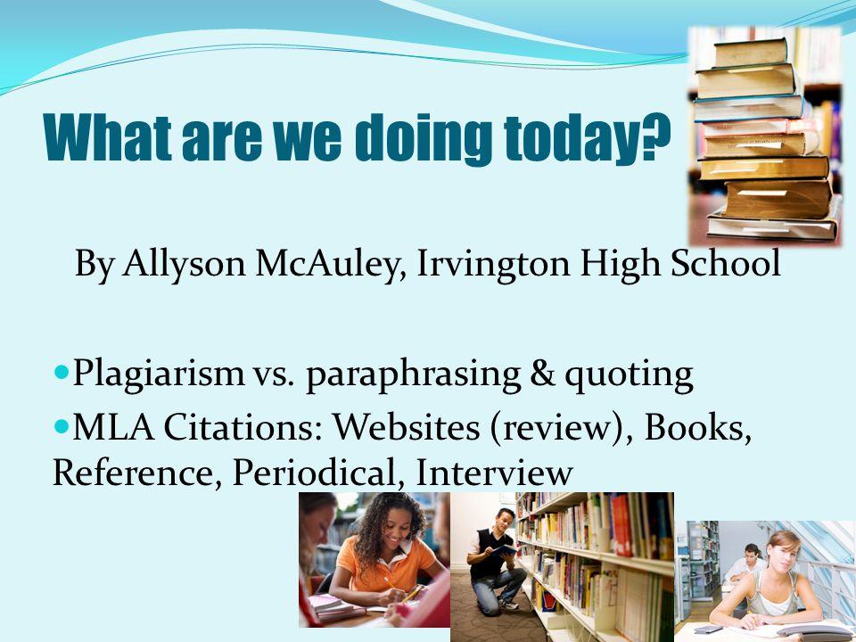 By Allyson McAuley, Irvington High School