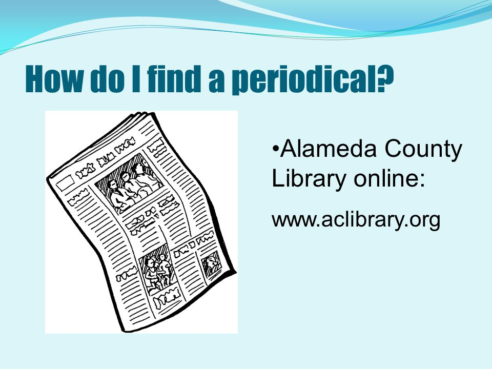 How do I find a periodical