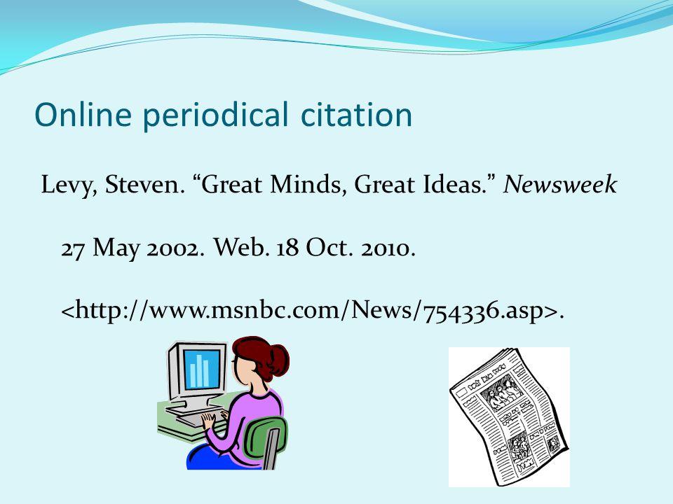 Online periodical citation