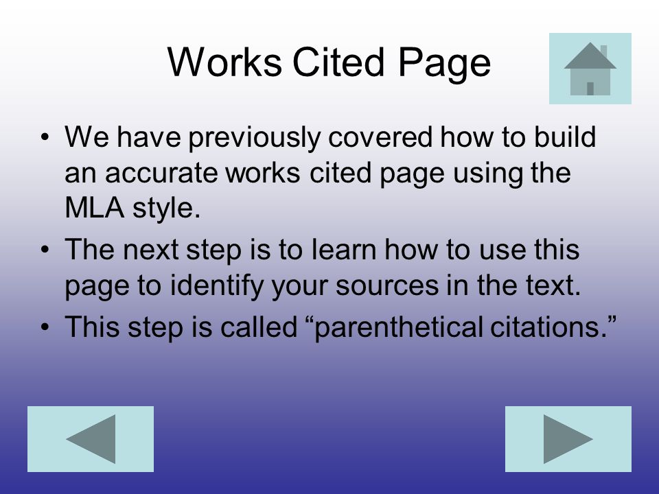 Works Cited Page We have previously covered how to build an accurate works cited page using the MLA style.