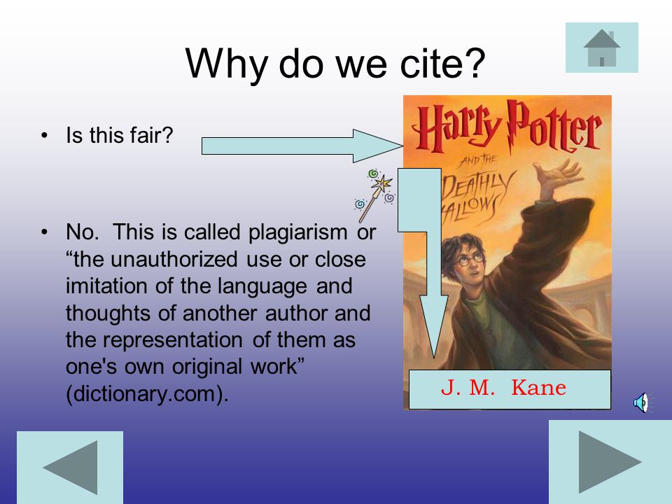 Why do we cite Is this fair