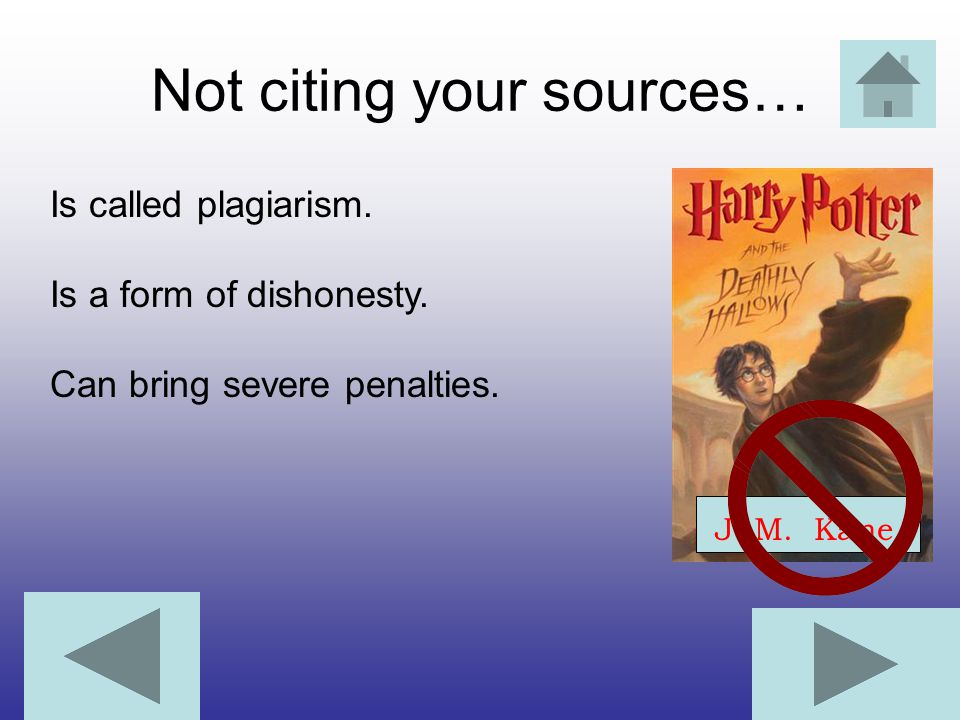 Not citing your sources…