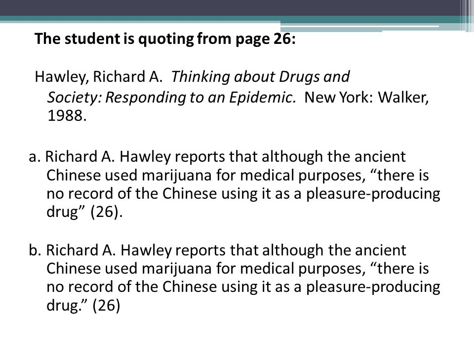 The student is quoting from page 26: