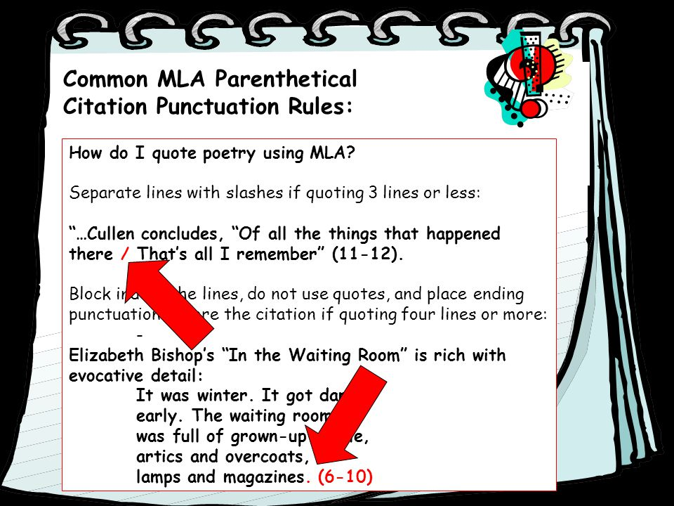 mla citation rules In mla style, referring to the works of others in your text is done by using what is  known as parenthetical citation immediately following a.