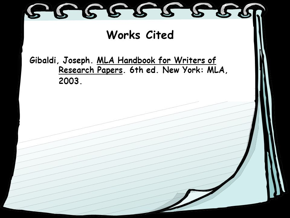 For writers of research papers by joseph gibaldi
