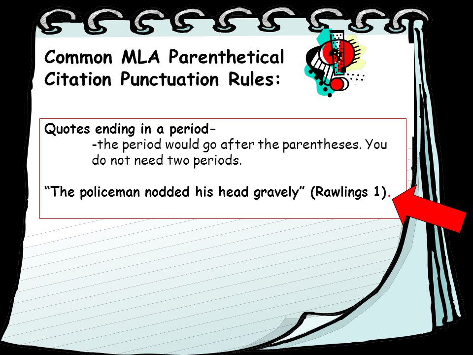 rules for mla format