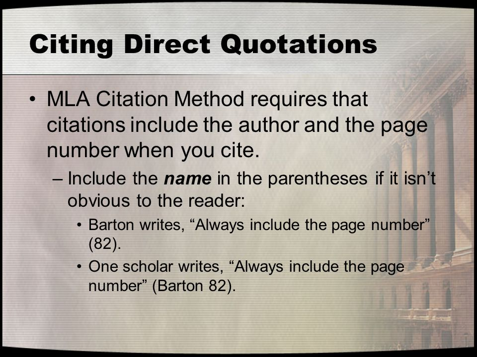 Citing Direct Quotations