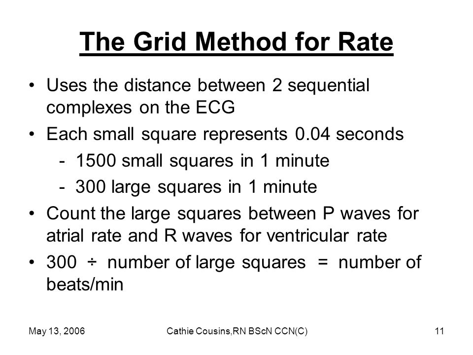 The Grid Method for Rate