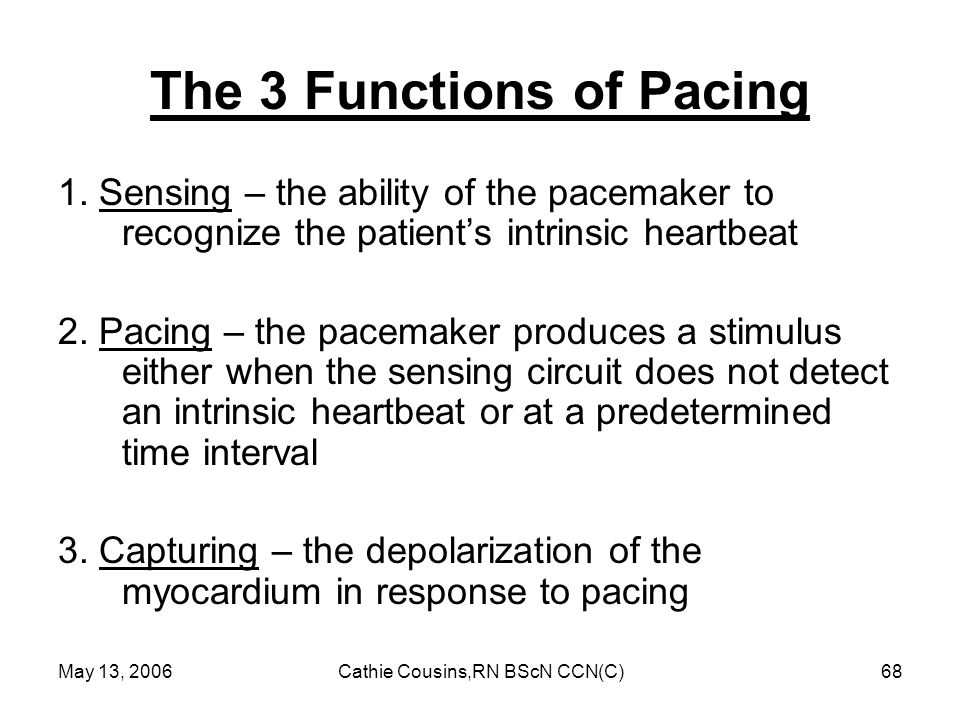The 3 Functions of Pacing