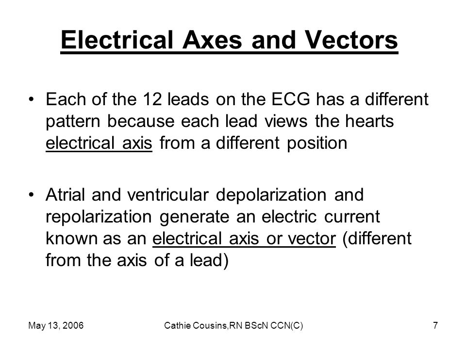 Electrical Axes and Vectors