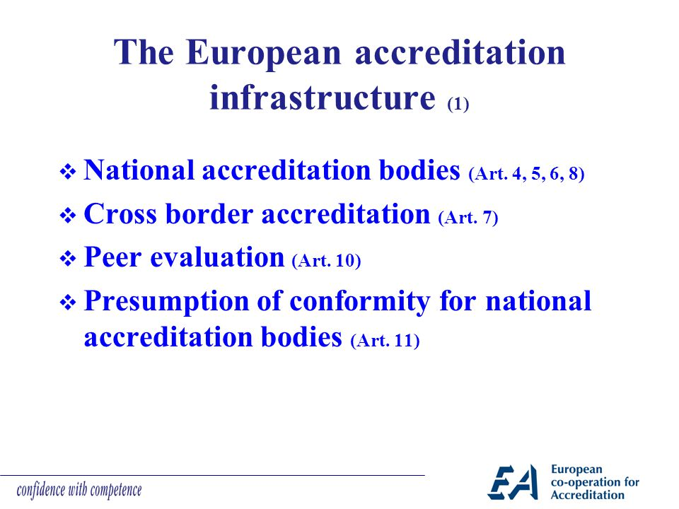 The European accreditation infrastructure (1)