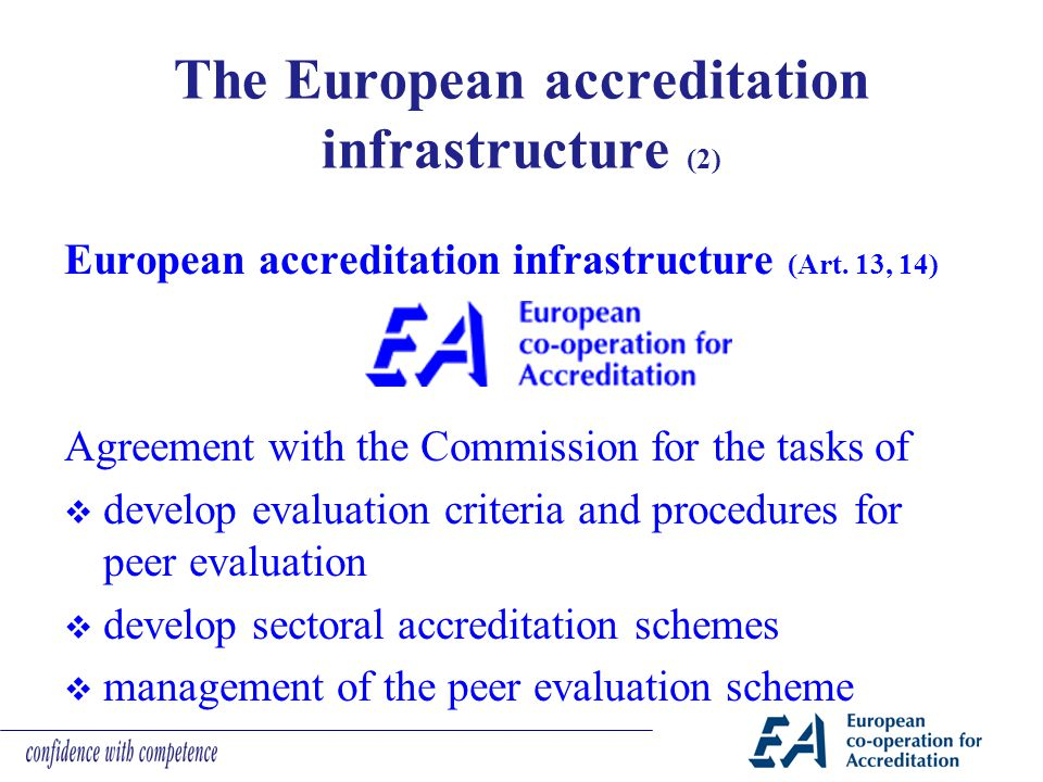 The European accreditation infrastructure (2)