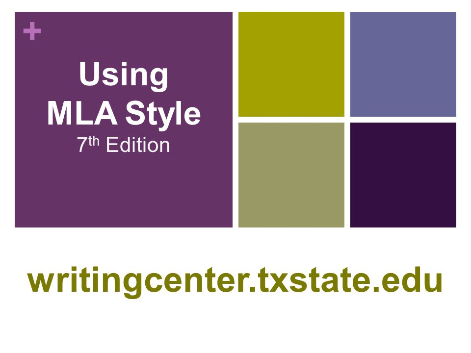 Using MLA Style 7th Edition