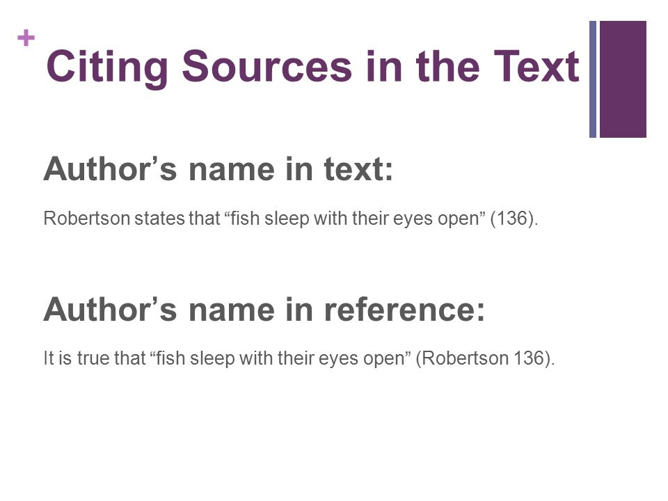 Citing Sources in the Text
