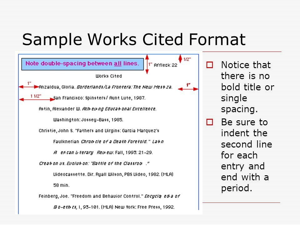 how to include in works cited an edited work