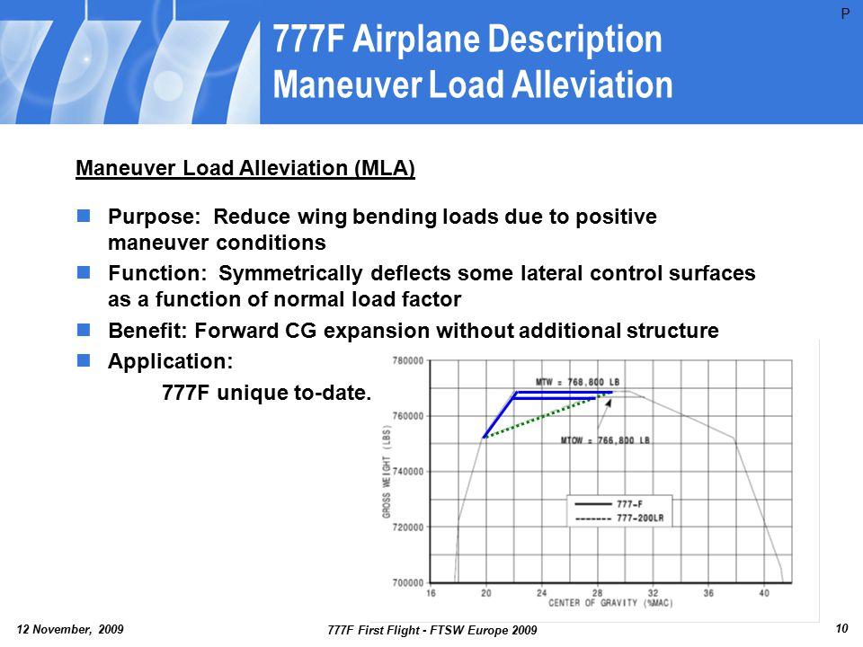 777F Airplane Description Maneuver Load Alleviation