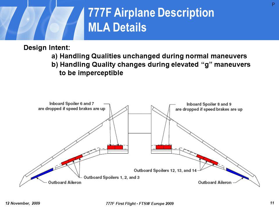 777F Airplane Description MLA Details