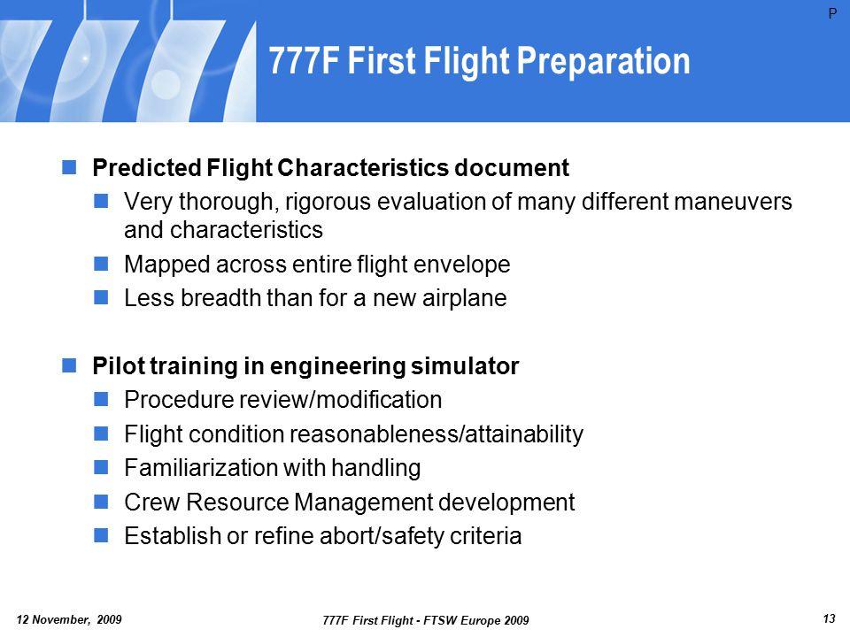 777F First Flight Preparation