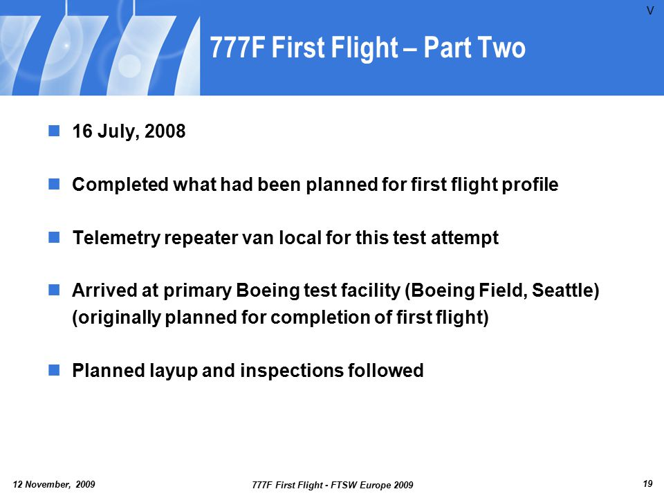 777F First Flight – Part Two