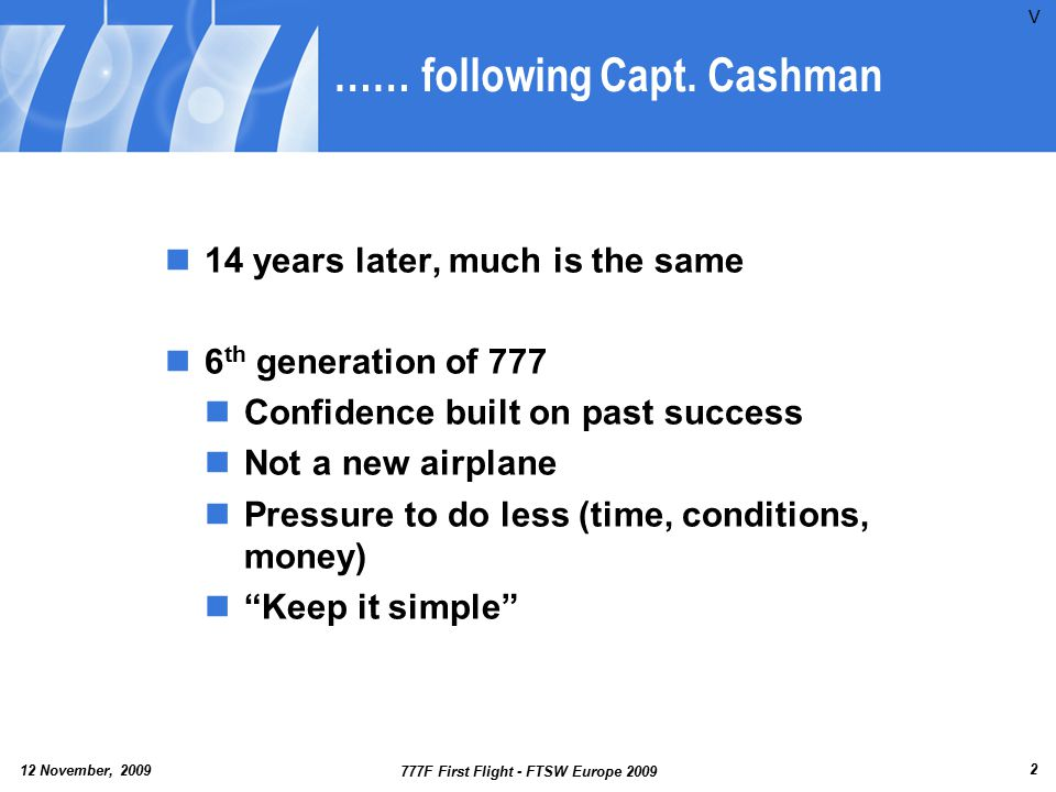 …… following Capt. Cashman