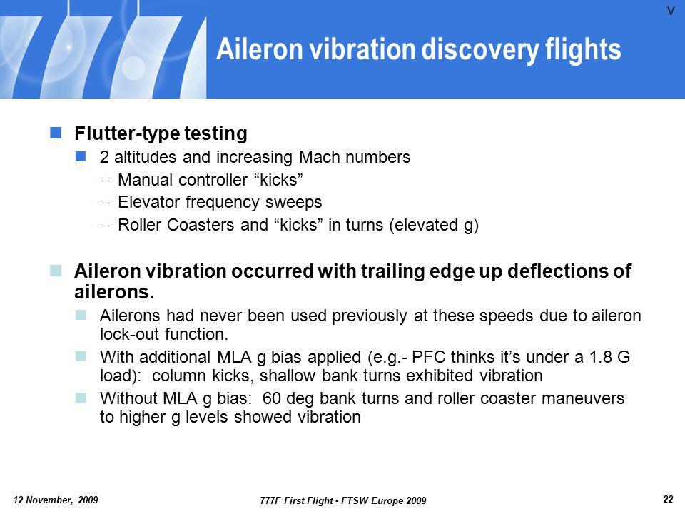 Aileron vibration discovery flights