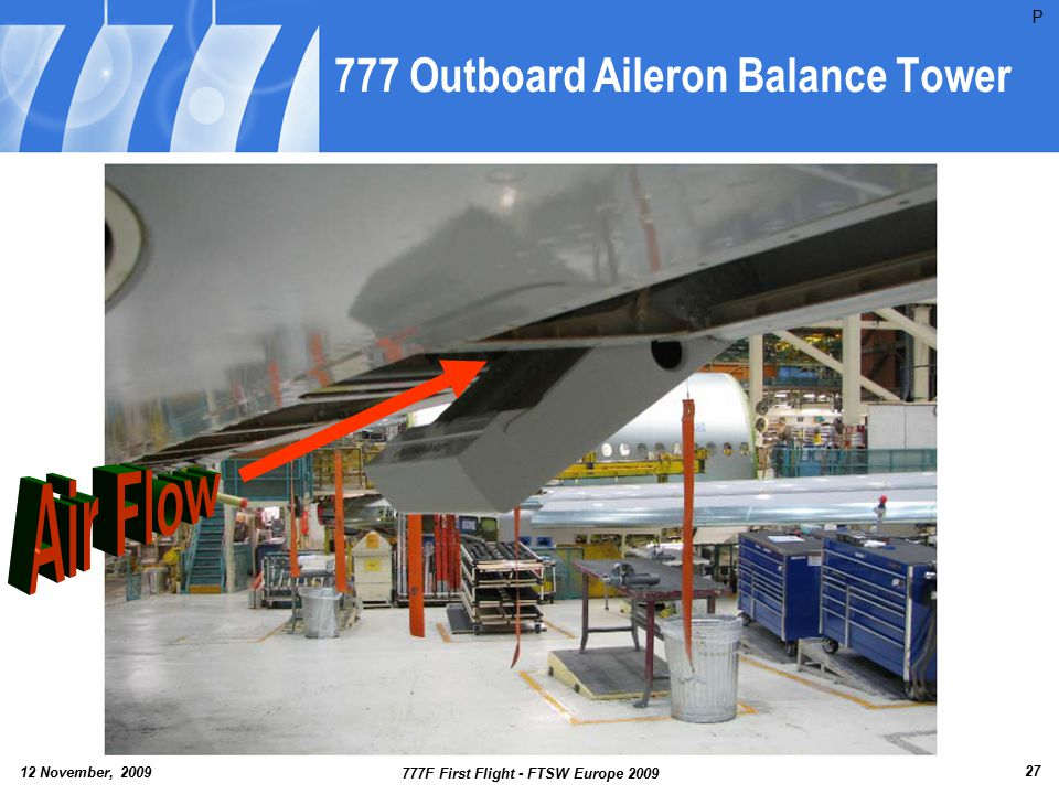 777 Outboard Aileron Balance Tower