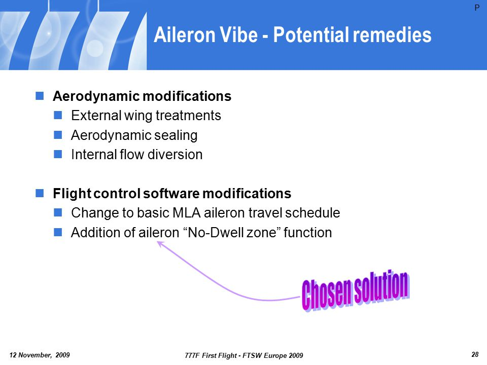 Aileron Vibe - Potential remedies