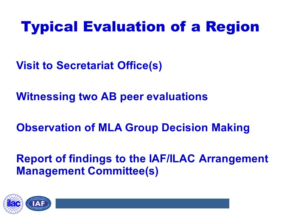 Typical Evaluation of a Region
