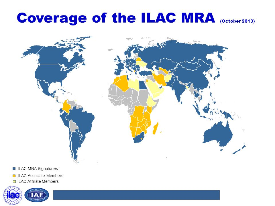Coverage of the ILAC MRA (October 2013)