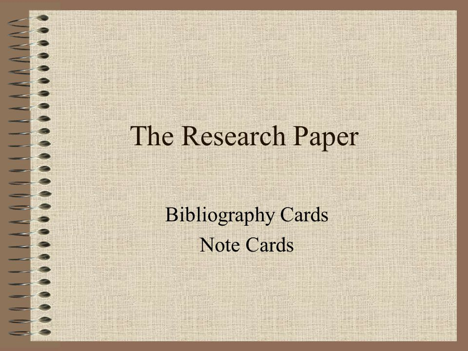Note card format for research paper