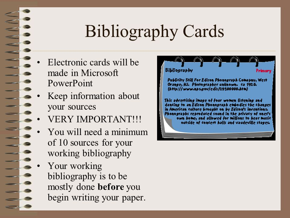 research paper bibliography cards Document read online sample bibliography cards for research paper sample bibliography cards for research paper - in this site is not the similar as a solution.