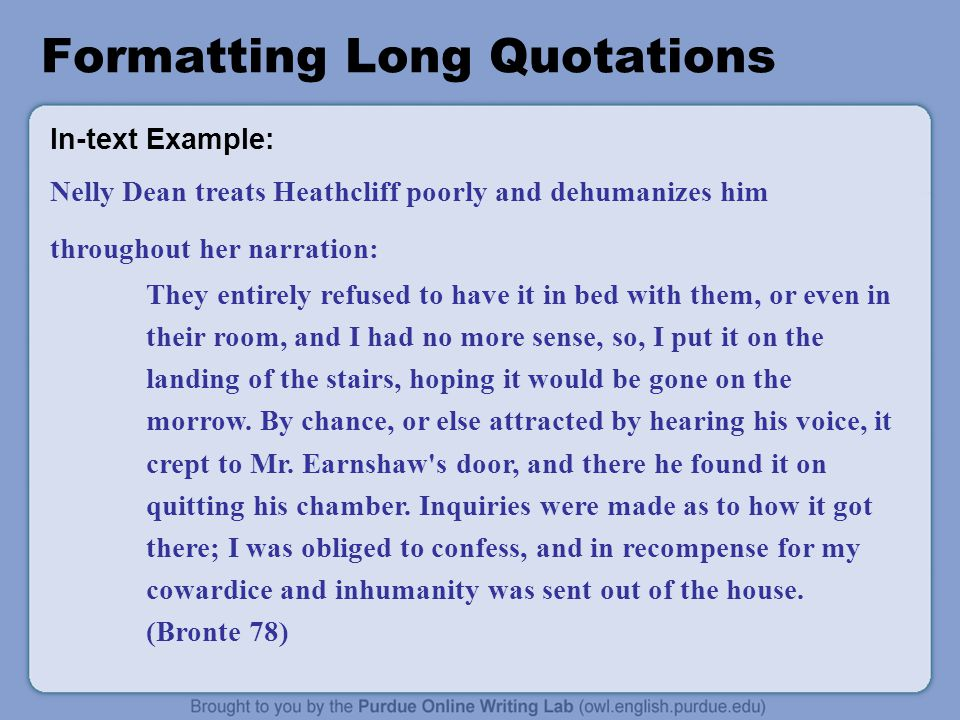 essay format long quotes