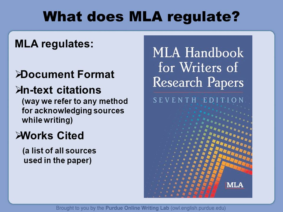 mla 7th edition research paper format