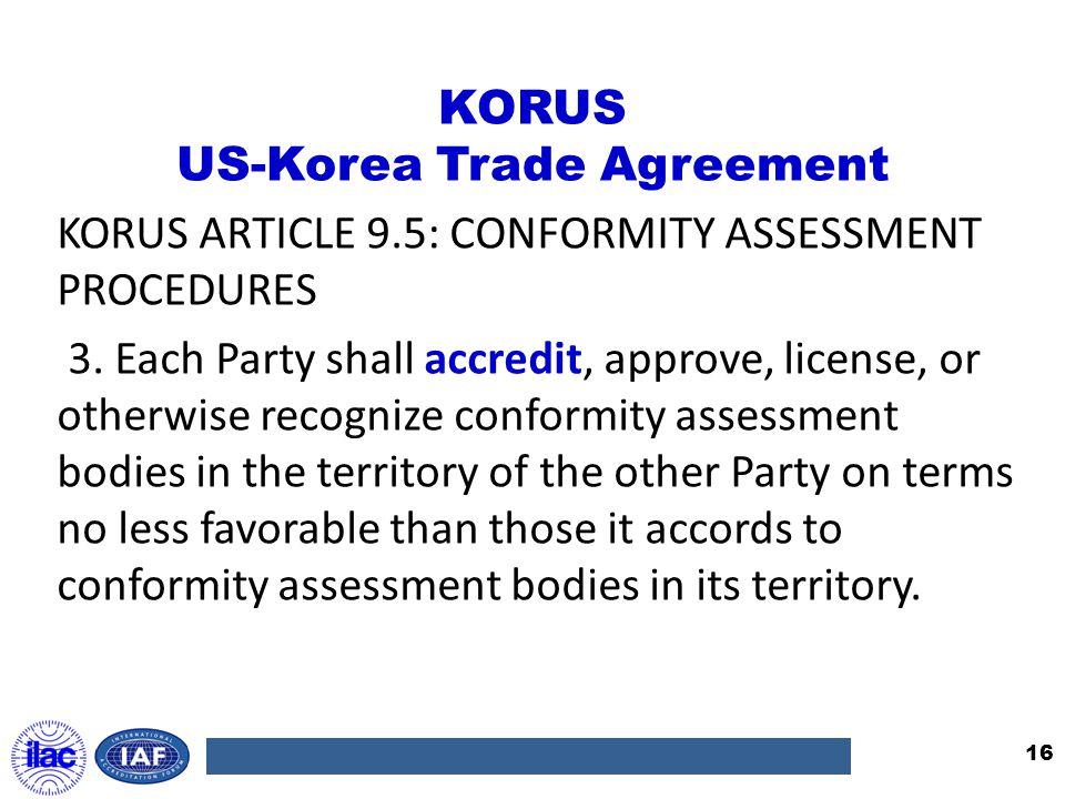 KORUS US-Korea Trade Agreement