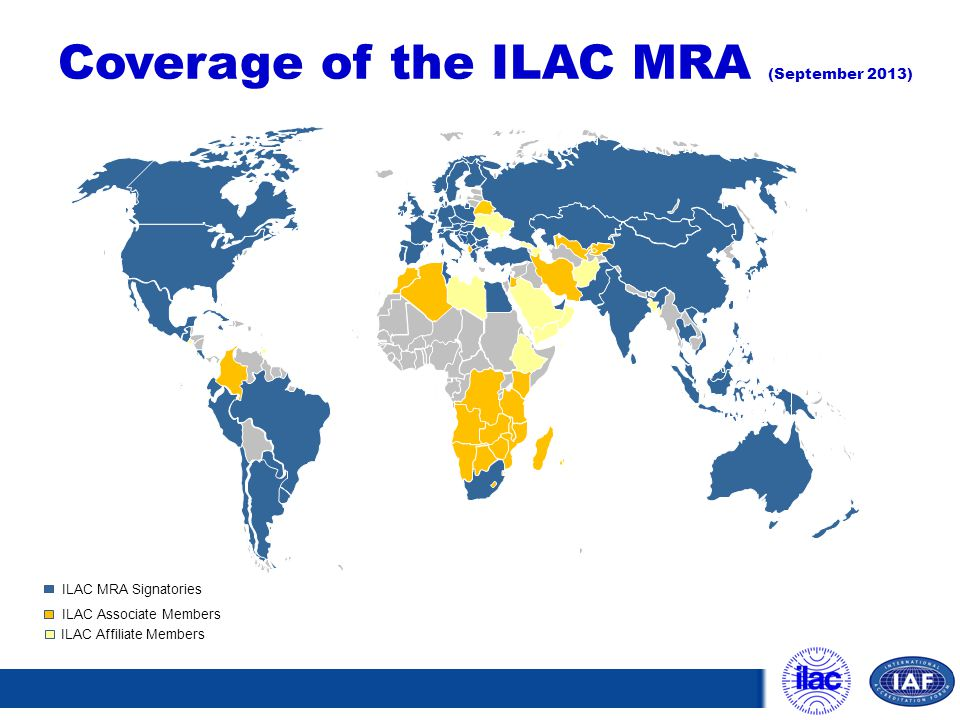 Coverage of the ILAC MRA (September 2013)