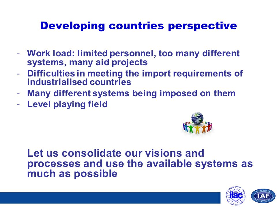 Developing countries perspective