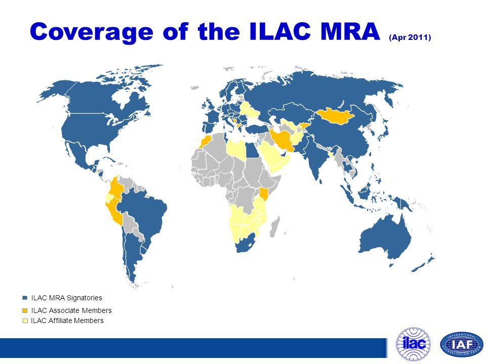 Coverage of the ILAC MRA (Apr 2011)