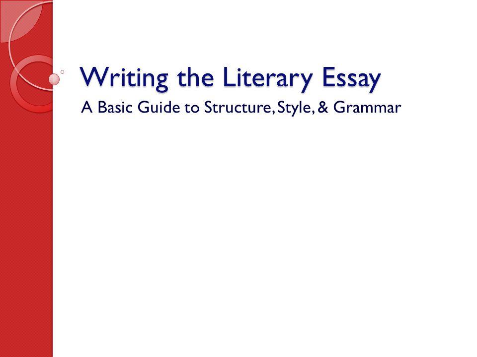 essay mechanics writing