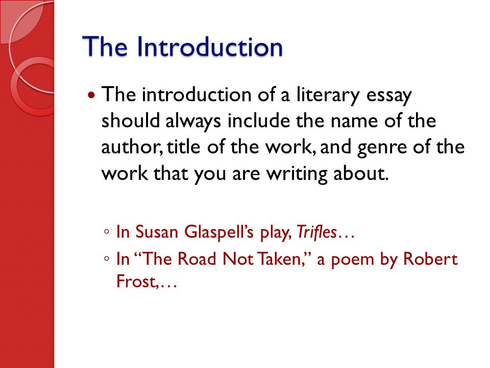 writing the literary essay ppt video online the introduction
