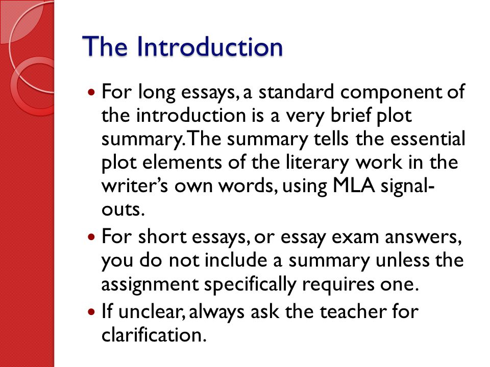 what are the basic elements and features of essay